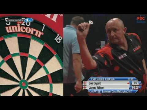 2017 European Darts Matchplay Round 1 Bryant vs Wilson