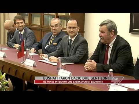 Bushati takon Daçiç dhe Gentiloni - News, Lajme - Vizion Plus