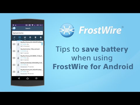 How To Save Battery When Using FrostWire For Android