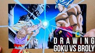 Drawing Goku VS Broly