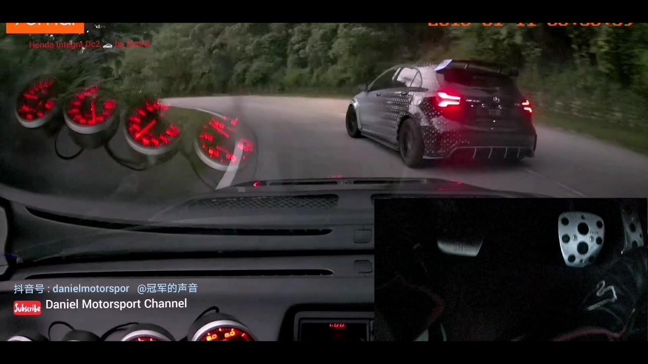 Honda Integra #dc2 kseries #Heelandtoe DuckTeam #手动挡补油降挡技巧 Mercedes AMG a45 Touge titikong Part 2