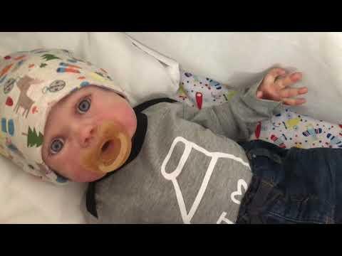 коляска для реборна / silicone reborn baby