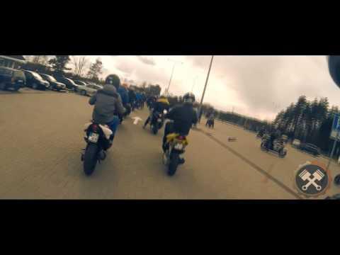 Motorcycle season open! Druskininkai, Lithuania. (Short version)