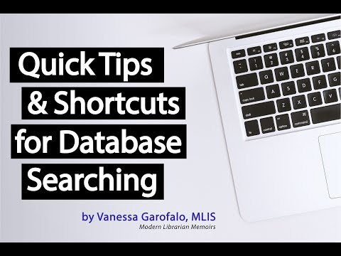 Quick Tips & Shortcuts For Database Searching