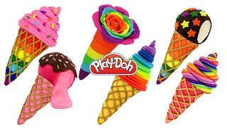 DIY How to Make Play Doh Waffle Cone Ice Cream