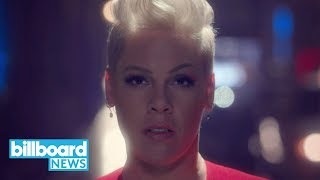 P!nk Graces Us With New Music Video for 'Walk Me Home' | Billboard News Video