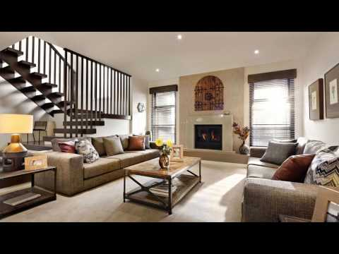 Minimalist Home decorating ideas living room with fireplace