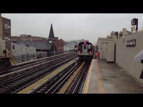 BMT Astoria Line: Manhattan & Ditmars Boulevard R160 & R68 (N) (W) Train @ 30th Avenue