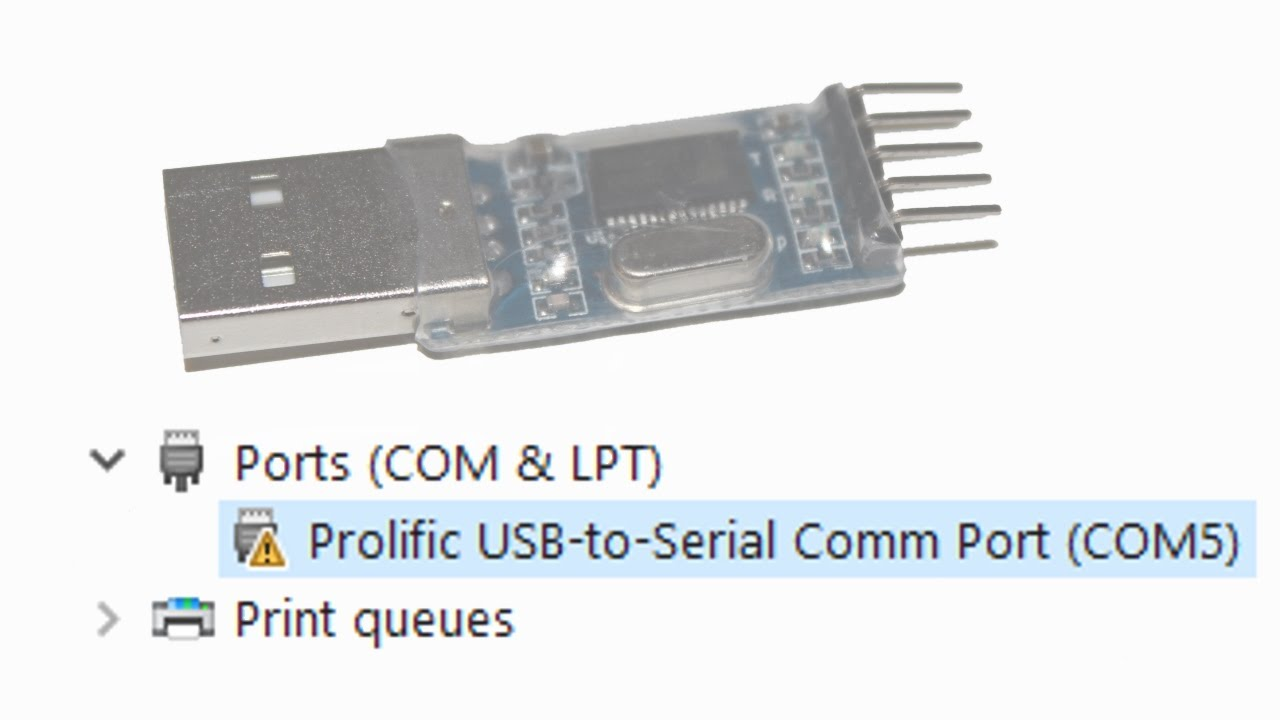 Prolific port technology driver usb-to-serial comm prolific