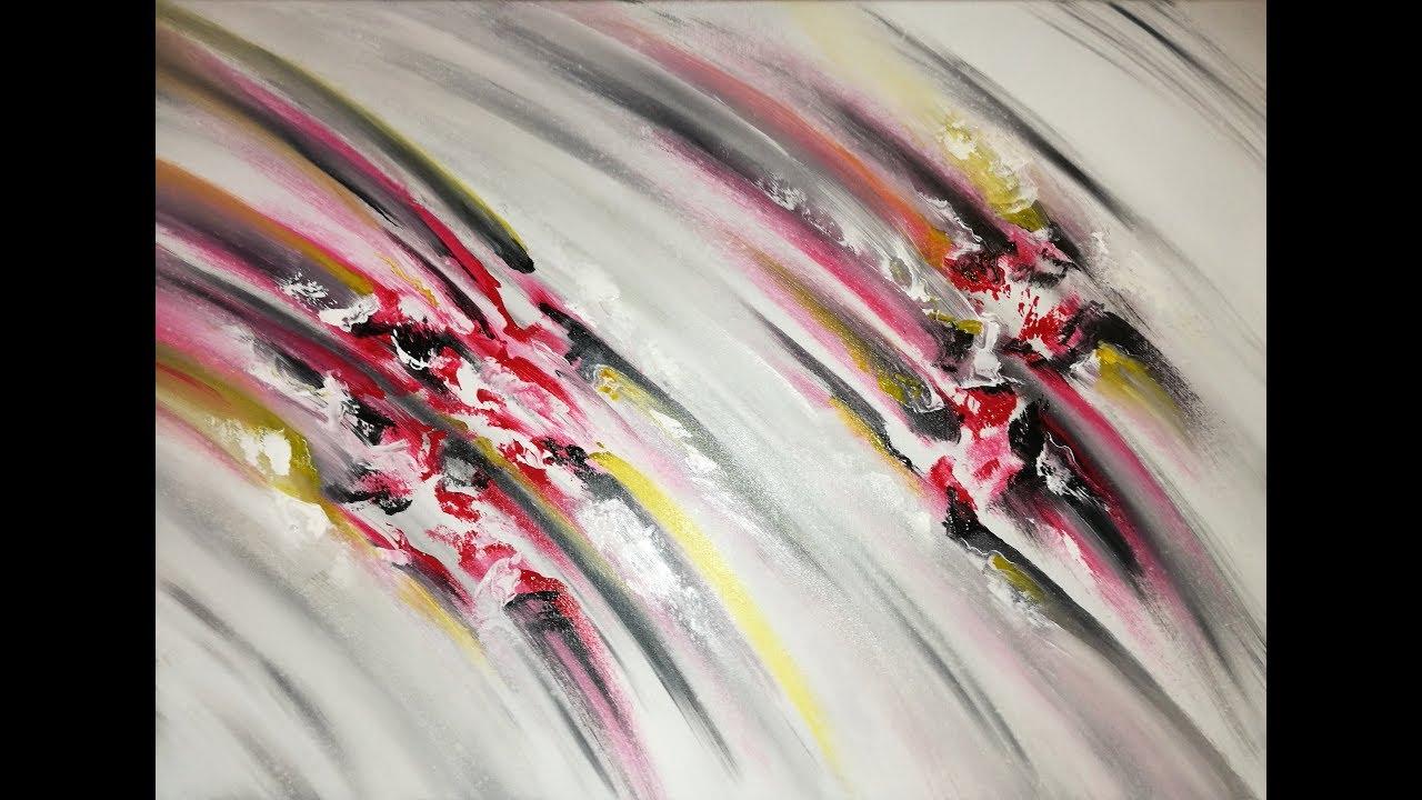 Peinture Abstraite Au Couteau Speed Painting Acrylique Youtube