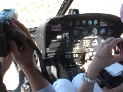 Awesome Helicopter flight female pilot