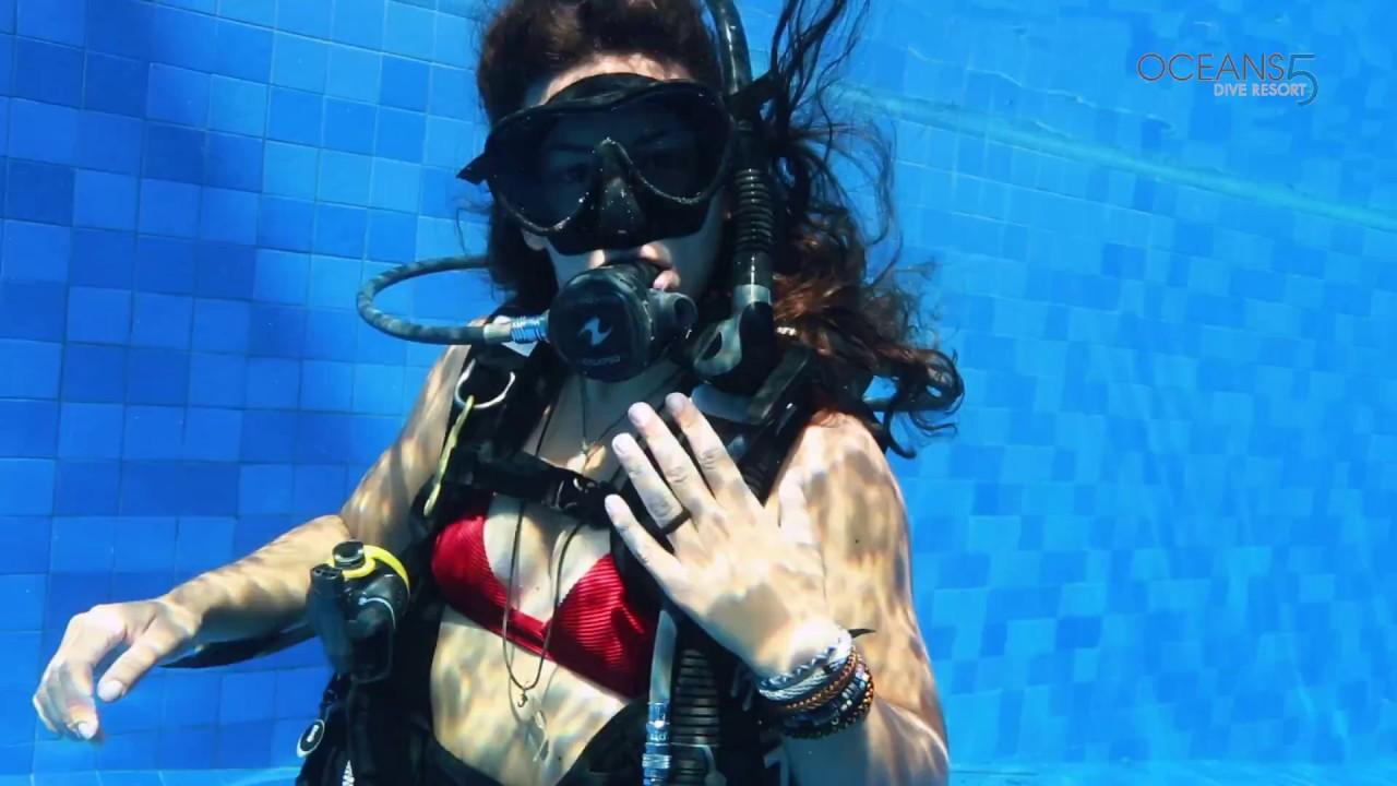 Sexy scuba diver