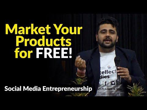 Social Media Entrepreneurship | Market Your Products for FREE! thumbnail