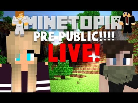 MINETOPIA PRE-PUBLIC!! HET BESTE PLOT OOIT!!! LIVE