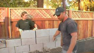 Yard Crashers  Stone Veneer Bench, Patio And Pergola