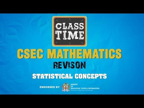 Statistical Concepts - CSEC Mathematics Revision  - January 11 2021