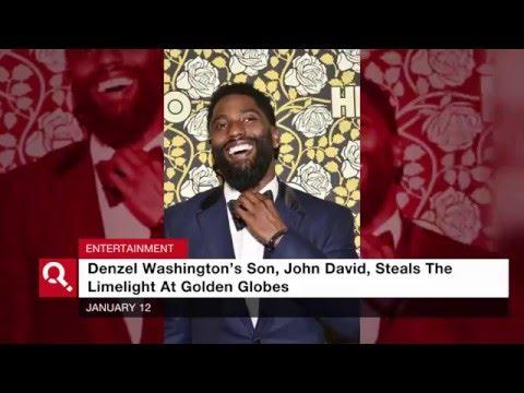 Denzel Washington's Son Captures Attention At Golden Globes