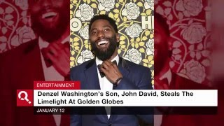 Denzel Washington's Son Captures Attention At Golden Globes
