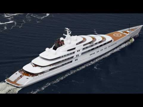 M/Y Azzam 180m Super yacht the largest in the World