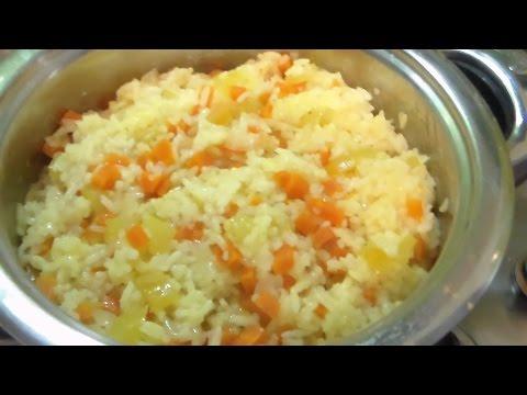 Рис с овощами( почти ризотто)