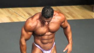 IFBB Pro Ahmad Ahmad guest pose in Swedish Nationals