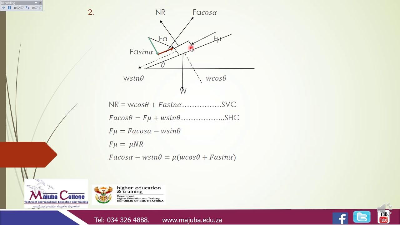 Download Engineering Science N3 (Friction - Part 2) - Mrs. Z.F. Mazibuko