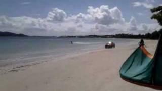 KiteSurf sem Vento ! VW Saveiro + Prancha Cabrinha ! (parte02)