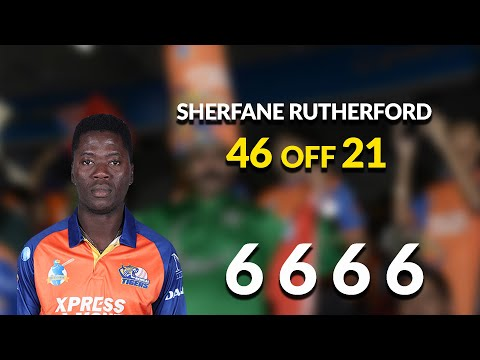 Sherfane Rutherford's 46 off 21 balls!!!