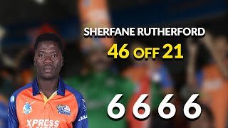 Sherfane Rutherford's 46 off 21 balls!!!