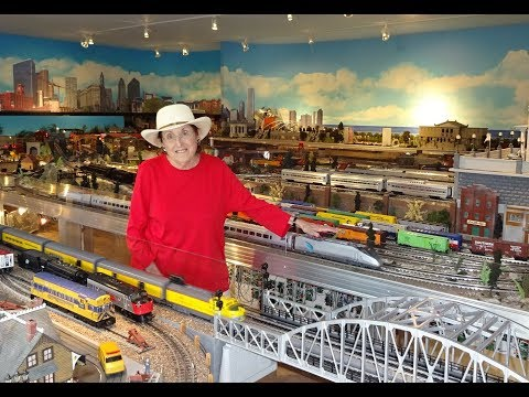 Modelling Railroad Toy Train Track Plans -Greatest Female Private Model Railroad RR O Scale Gauge Lionel Layout Ever? Meet The Train Lady
