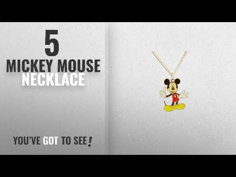 "Top 10 Mickey Mouse Necklace [2018]: Mickey Mouse 16"" Necklace Gift Boxed with Ornate Organza Gift"