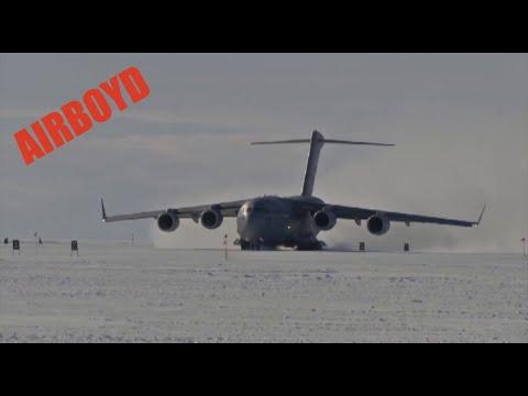 C-17 Snow Runway Operations In Antarctica (2016)
