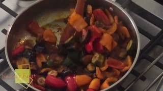 Nadine's Feast with Nadine Abensur  Ratatouille with Saffron Potatoes and Roasted Tomatoes