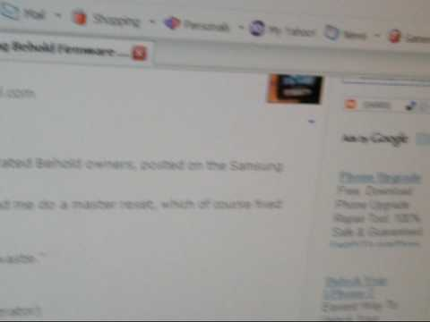 Samsung Behold, Petition Firmware Update