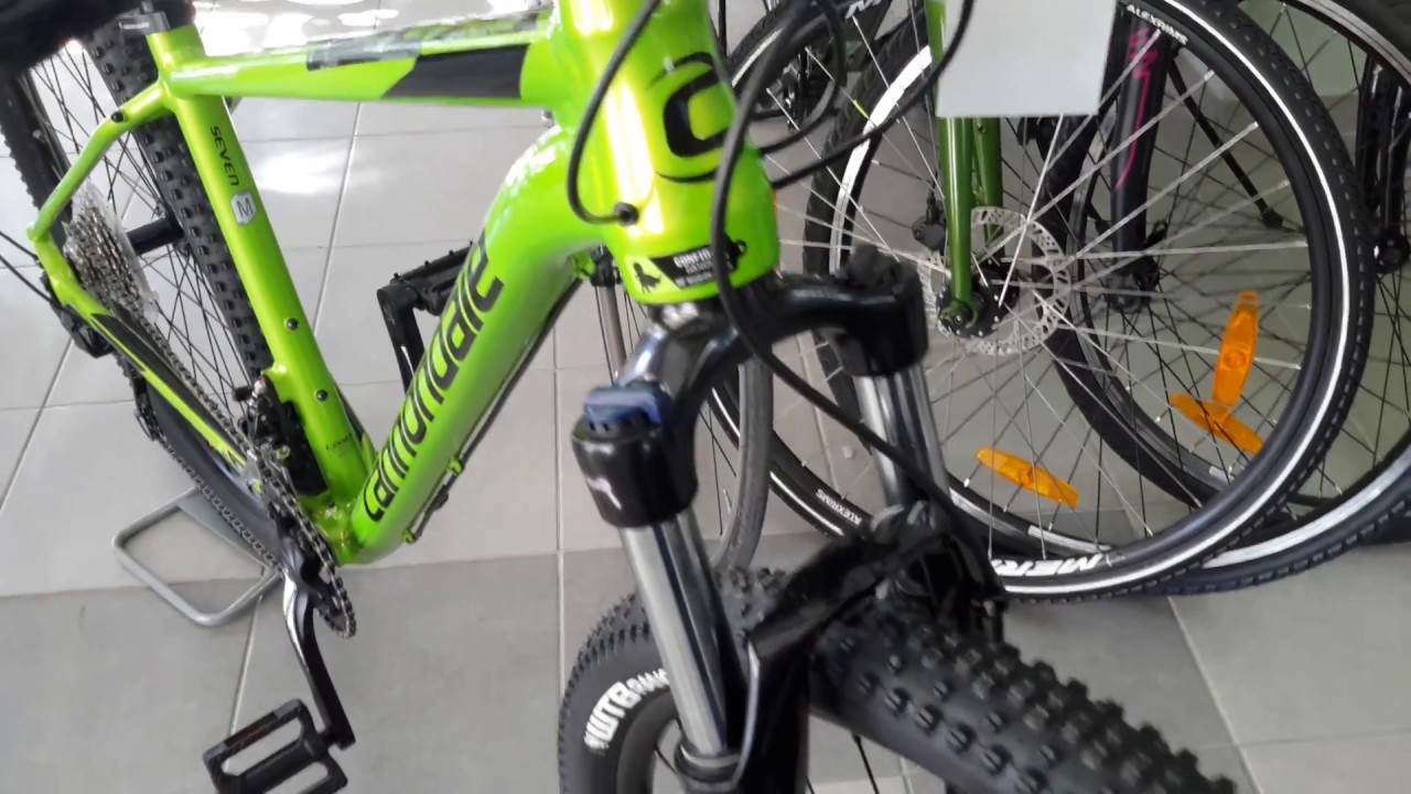 5c5574576c9 Bike Traction : CANNONDALE 29'' TRAIL 7 2018 GREEN - YouTube