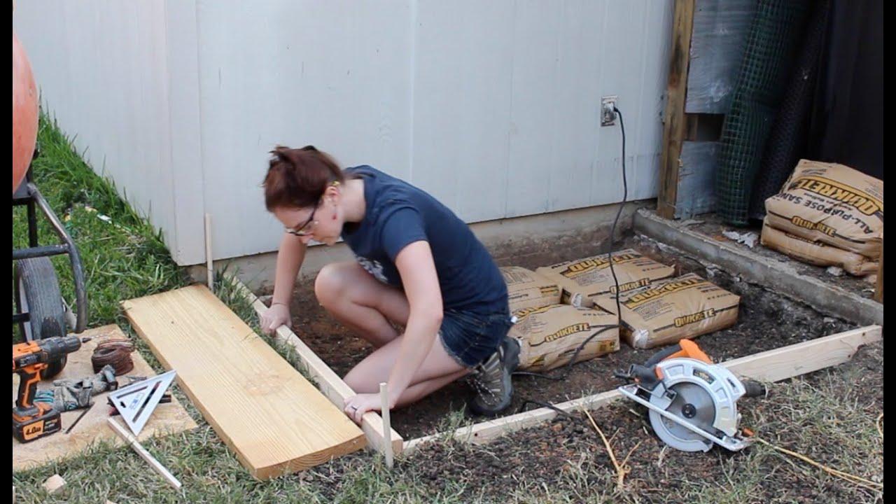How To Pour A Small Concrete Slab You