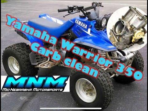 HOW TO - Yamaha Warrior 350 Carburetor Clean Carb Rebuild Kit Gas Fuel Cleaner GUMOUT Repair Kit