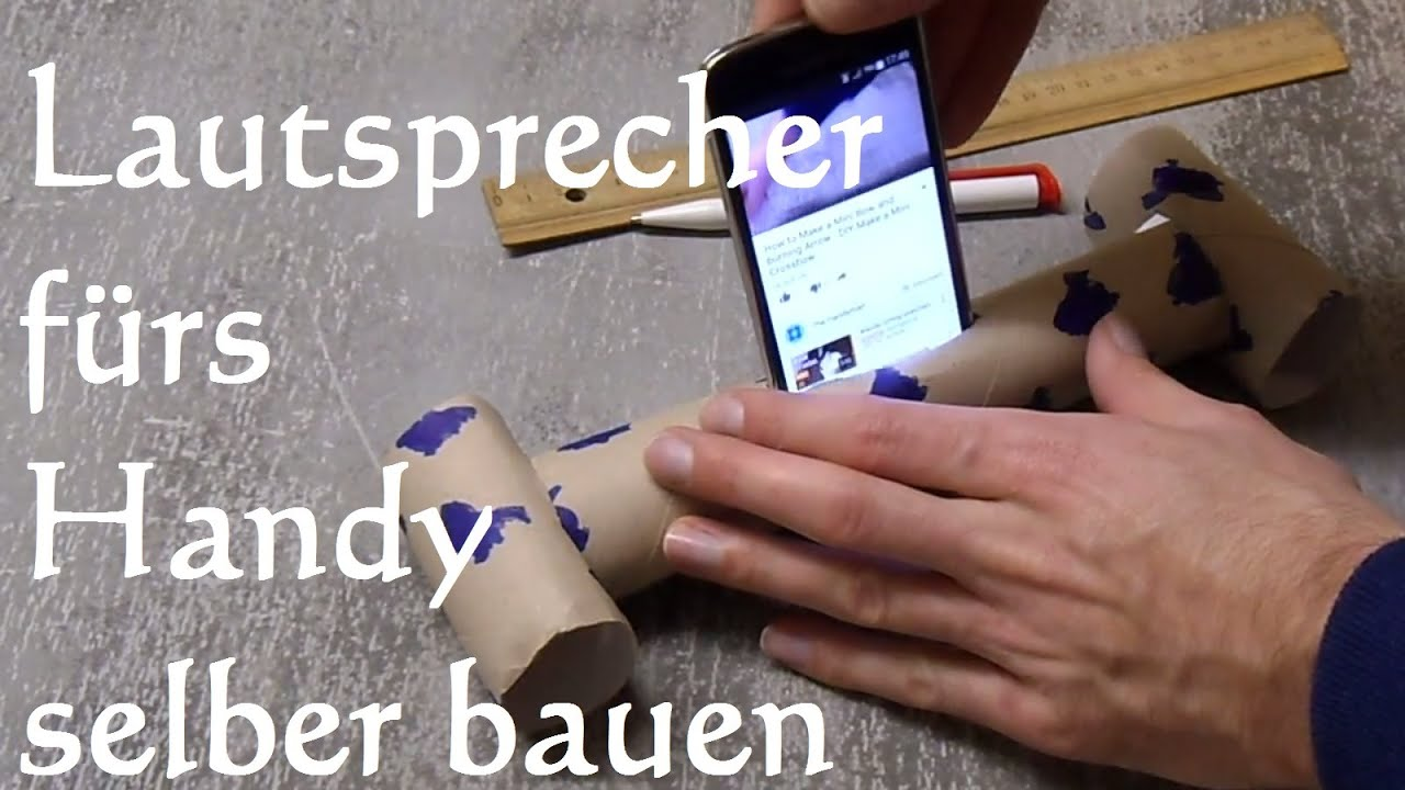 diy handy smartphone phone lautsprecher in 2 min selber machen bauen youtube. Black Bedroom Furniture Sets. Home Design Ideas