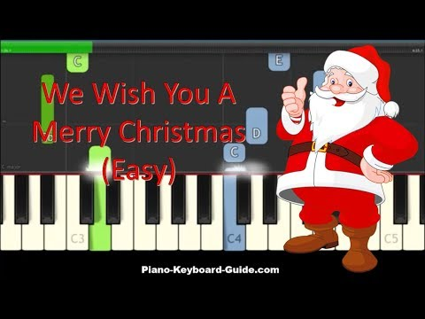 We Wish You A Merry Christmas Easy Piano Tutorial - Notes