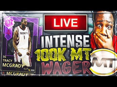HE CALLED ME OUT! CRAZY 100K MT WAGER LIVESTREAM!! | NBA 2K18 MYTEAM WAGERS