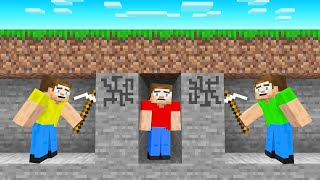 2 HUNTERS vs SPEEDRUNNER Challenge! (Minecraft)