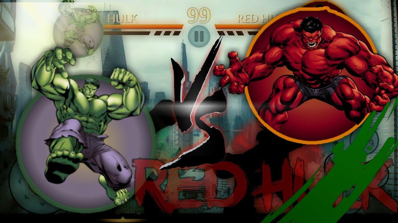 Shadow Fight 2 Green Hulk vs Red Hulk. - YouTube