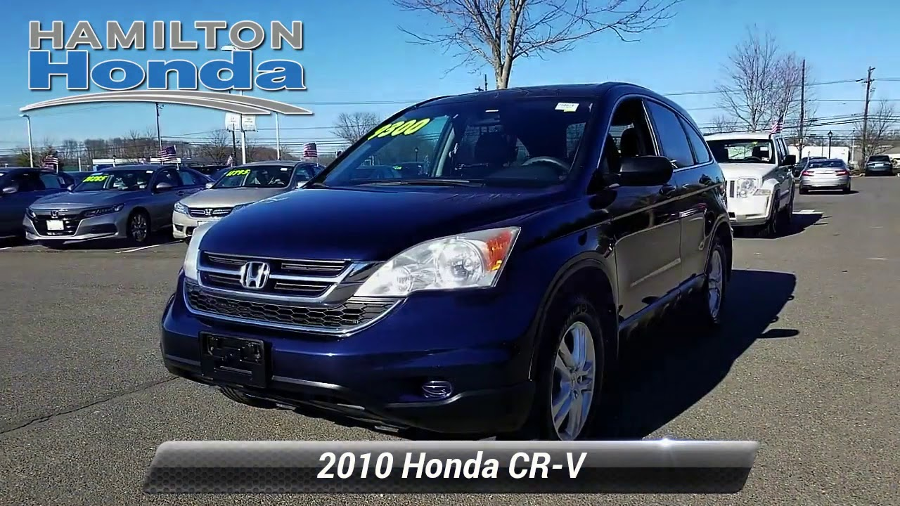 Used 2010 Honda CR-V EX. Hamilton Township. NJ 28087T - YouTube