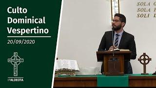 Culto Vespertino (20/09/2020) - Sem. Thalison - Filipenses 4. 2-9
