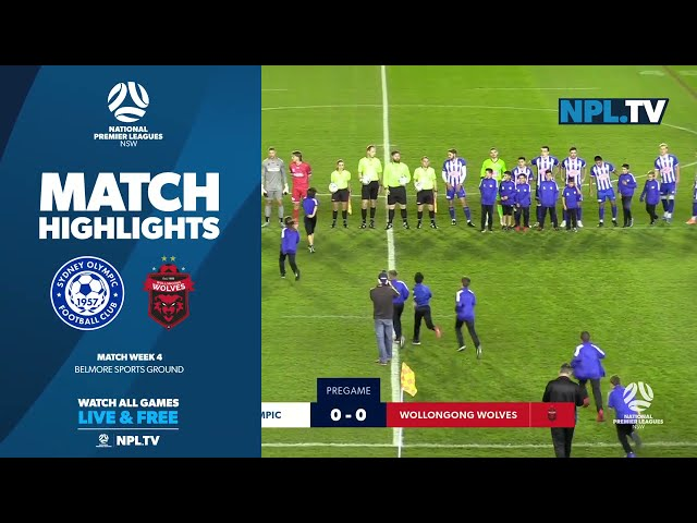NPL NSW Men's Round 4 – Sydney Olympic v Wollongong Wolves