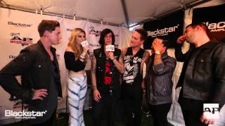 APMAs Blackstar Backstage Artist Lounge: Sleeping With Sirens interviewed by Juliet Simms