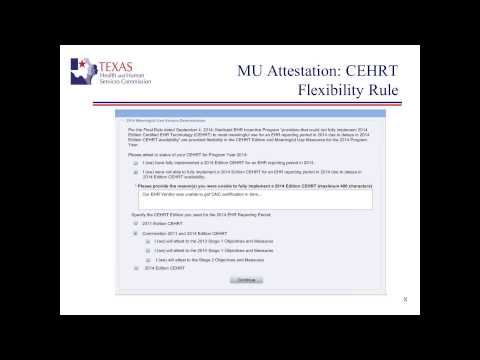 Meaningful Use Attestation - Medicaid and Medicare