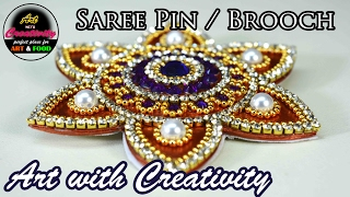 Saree pin / Brooch | Made out of paper |...