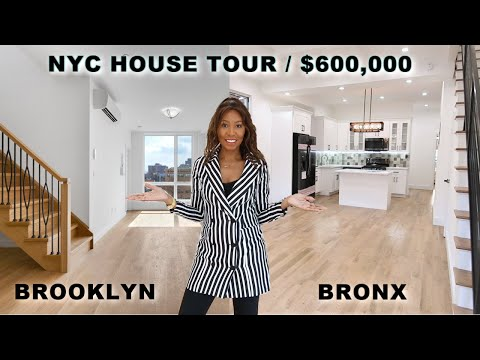 NYC House Tour * Brooklyn vs Bronx * What You Can Buy In NYC for $600K - Apartment Real Estate!