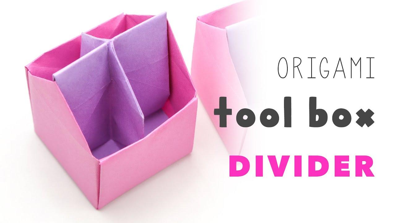 origami tool box 4 section divider tutorial ��� diy ���
